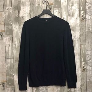 H&M Divided Crewneck Navy Blue Sweater Medium